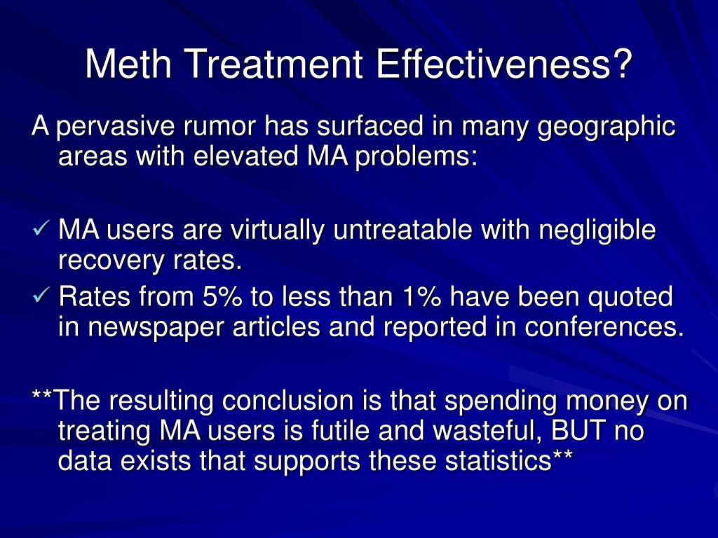 Meth Treatment Effectiveness?