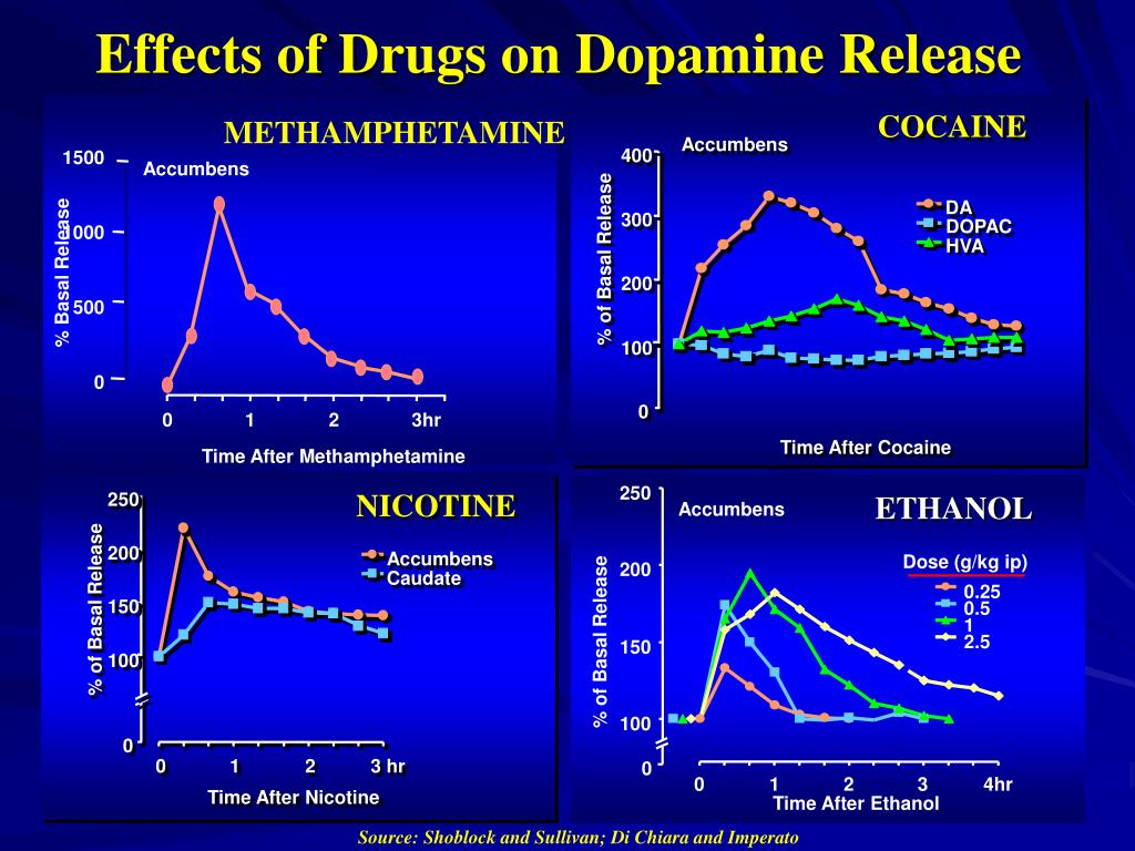 Effects of Drugs on Dopamine Release