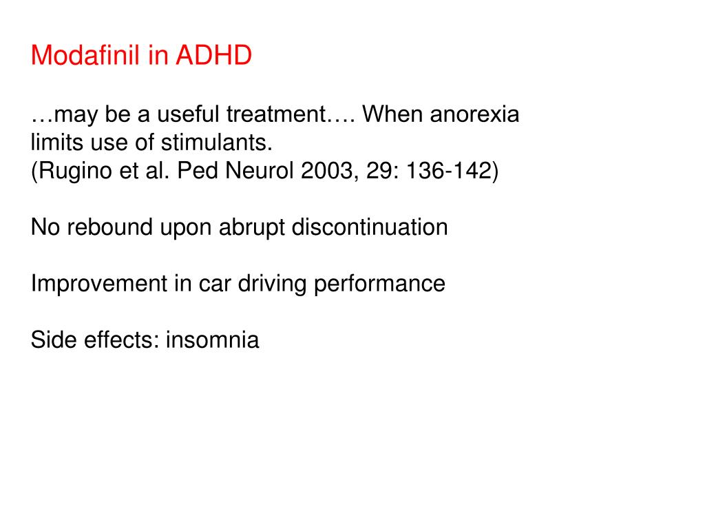 Modafinil in ADHD