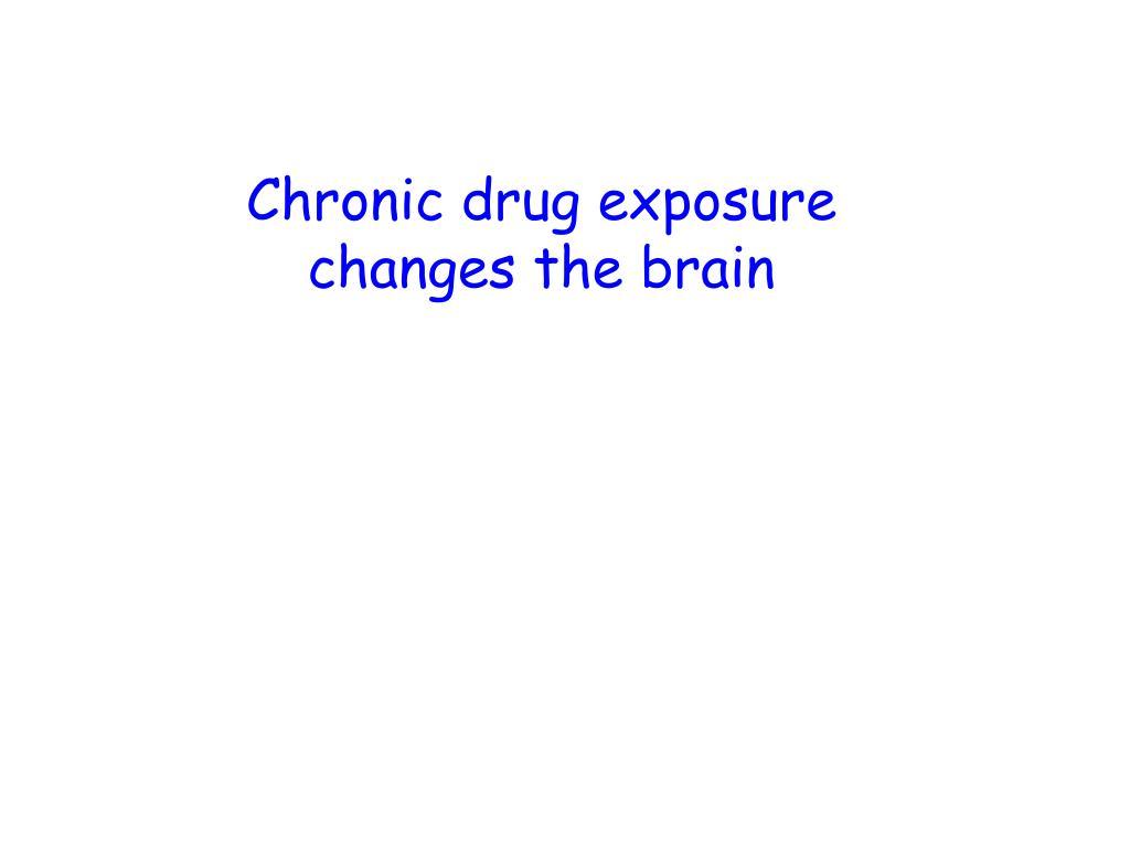 Chronic drug exposure changes the brain