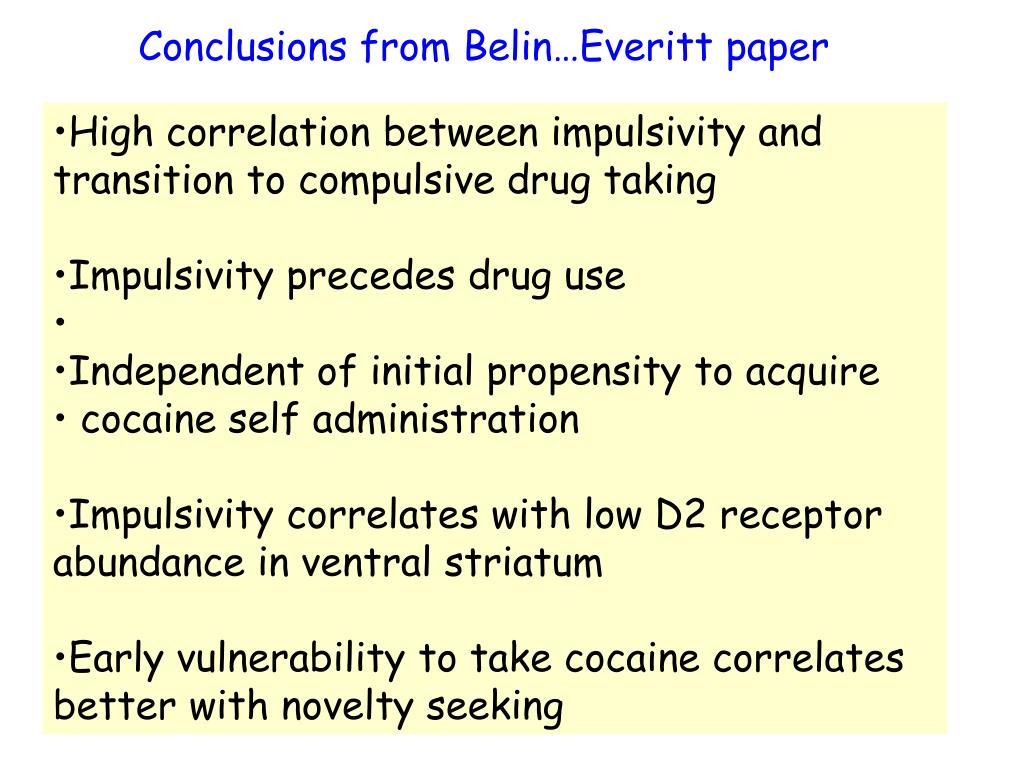 Conclusions from Belin…Everitt paper