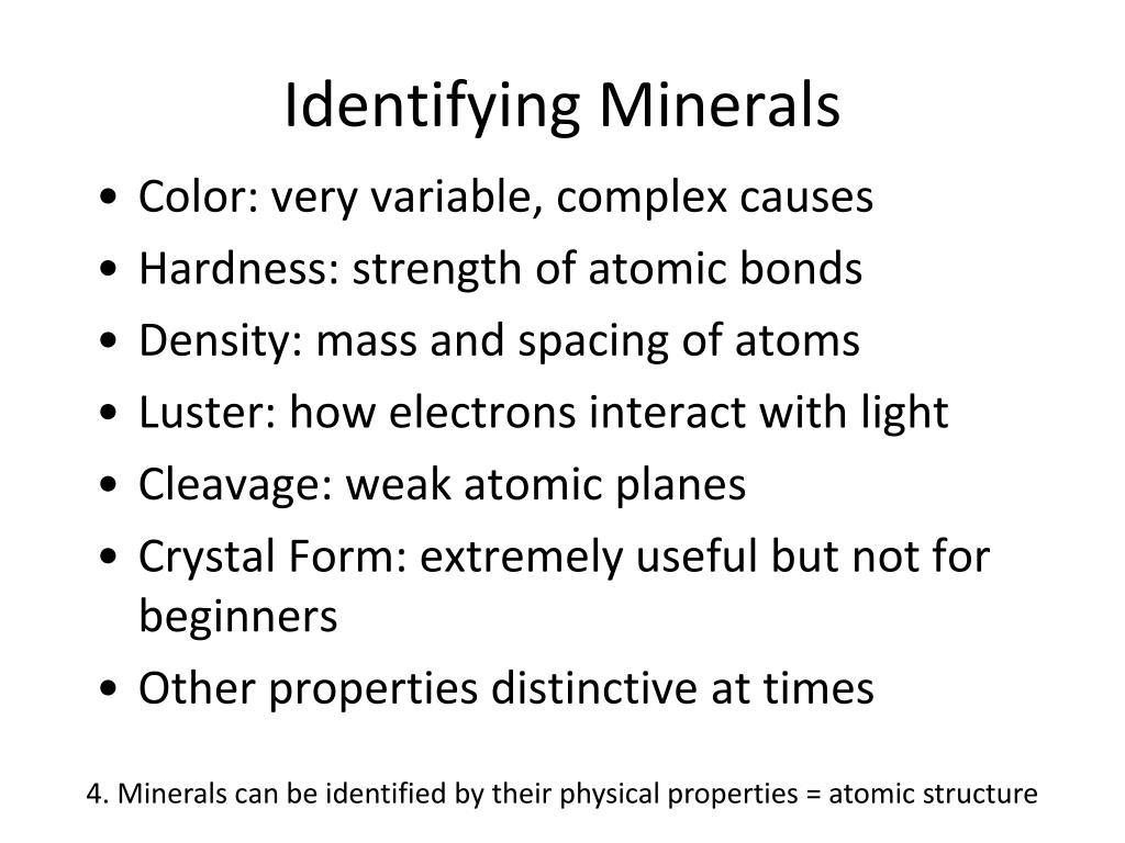 Identifying Minerals