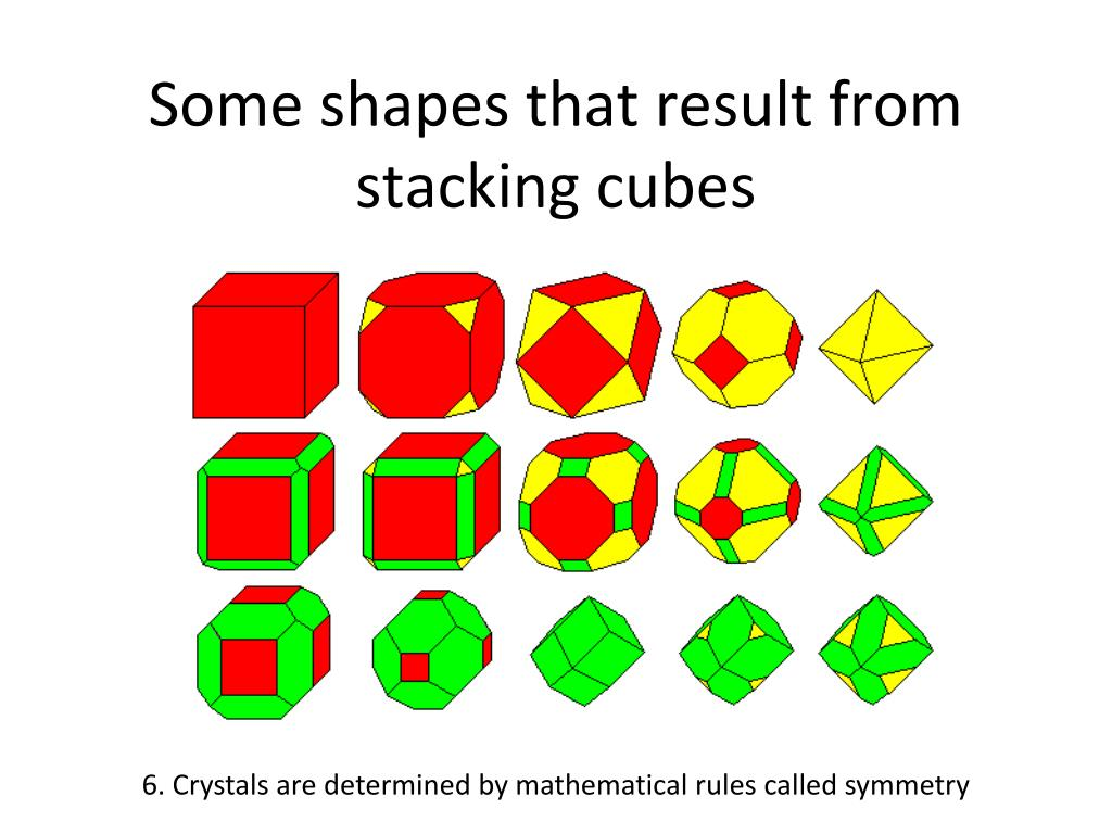 Some shapes that result from stacking cubes