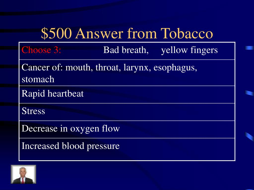 $500 Answer from Tobacco