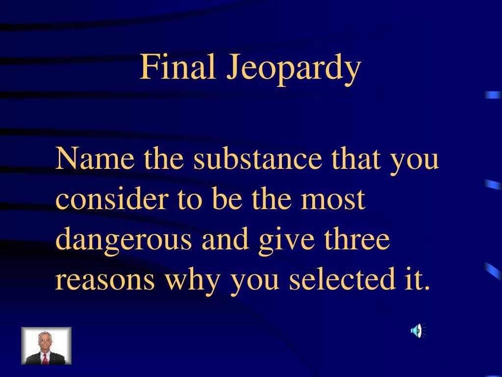 Final Jeopardy