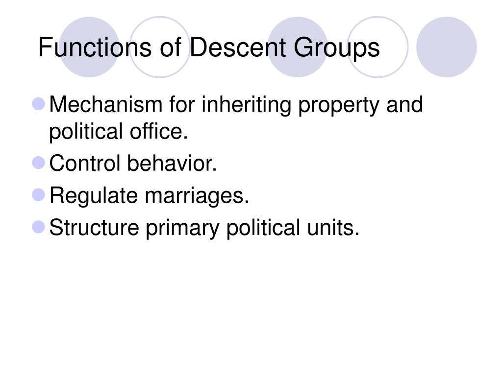 Functions of Descent Groups