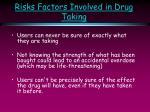 risks factors involved in drug taking