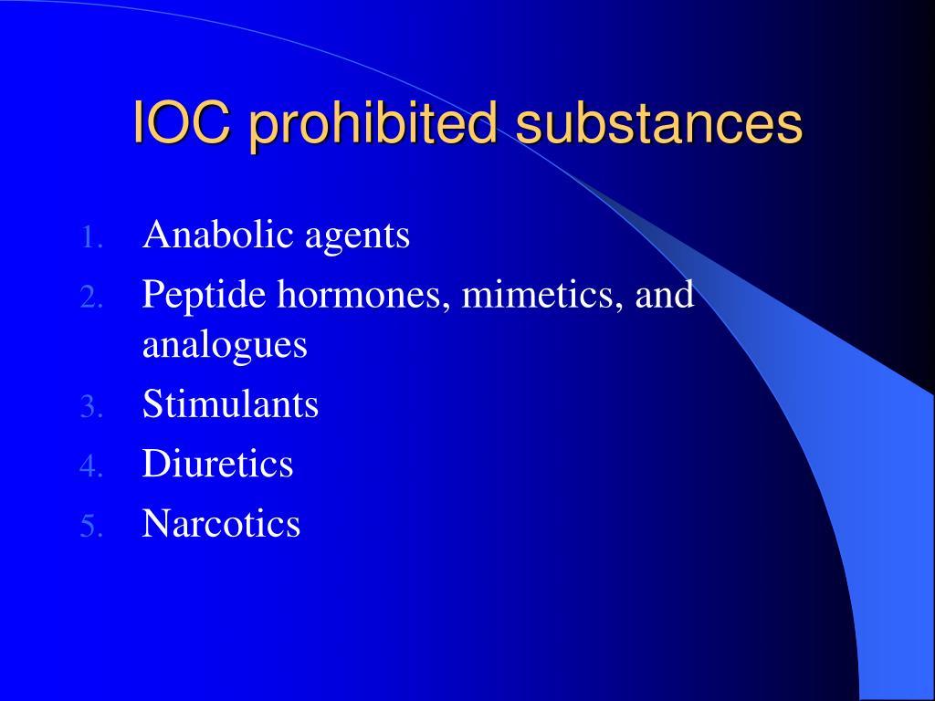 IOC prohibited substances