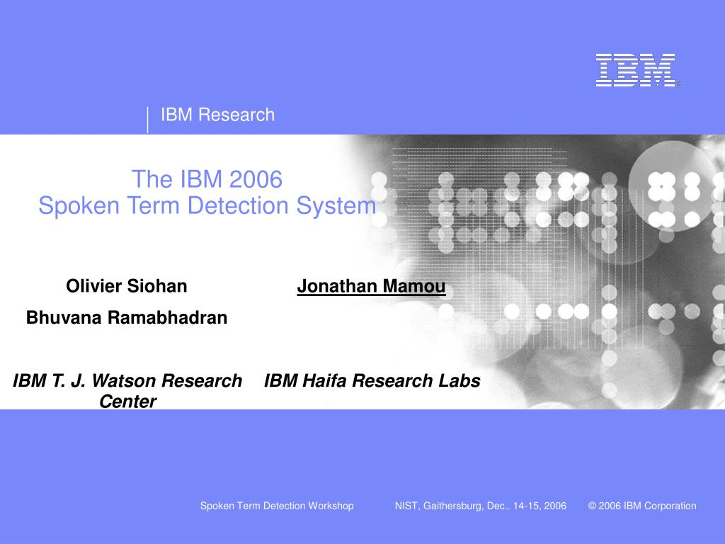 The IBM 2006