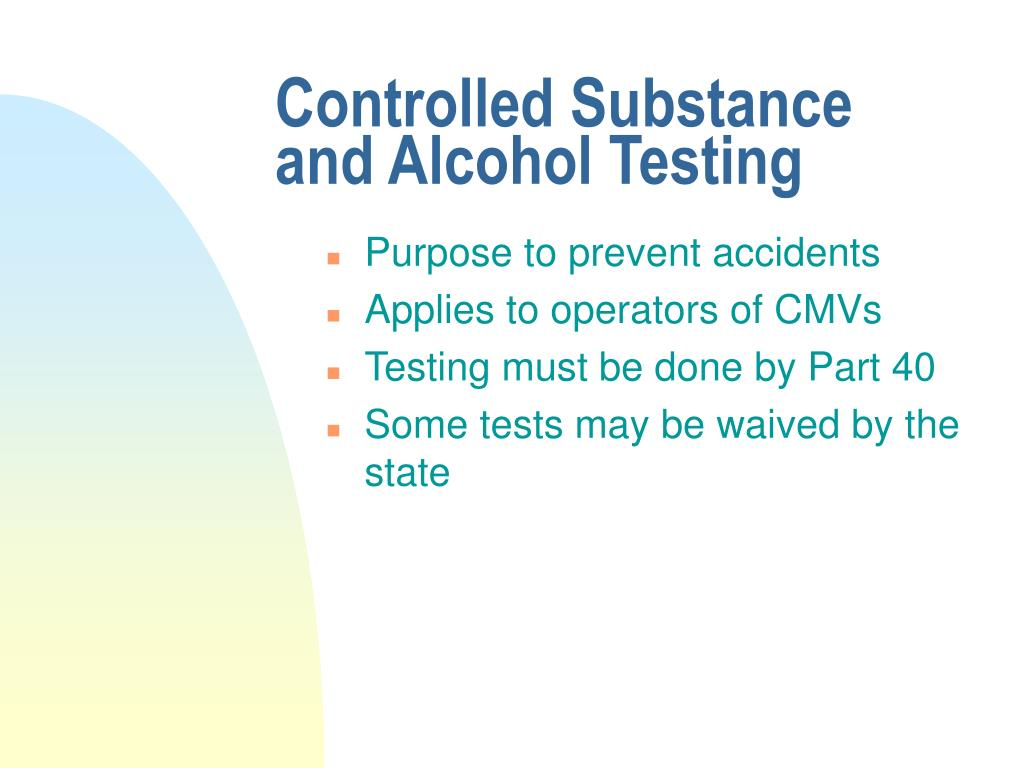 Controlled Substance and Alcohol Testing