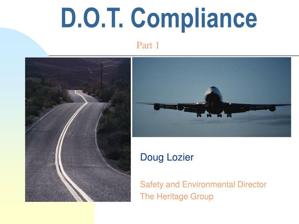 D.O.T. Compliance
