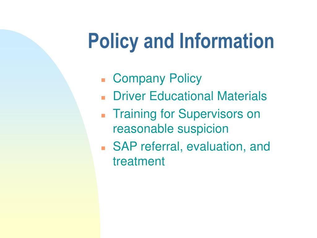 Policy and Information