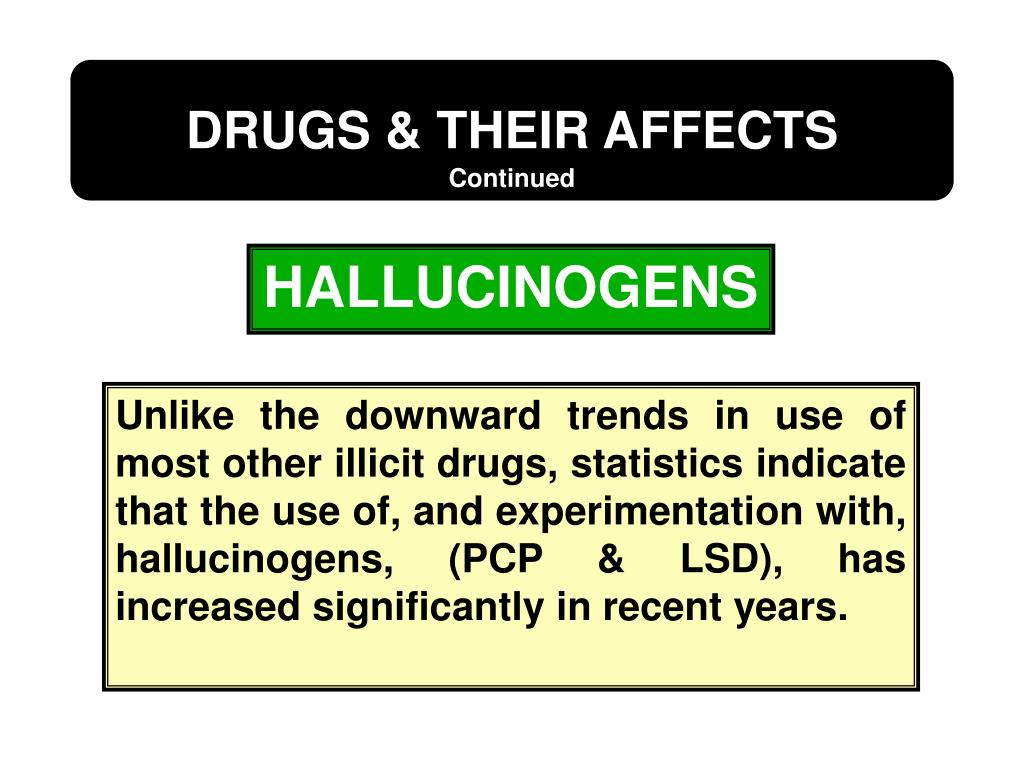 DRUGS & THEIR AFFECTS