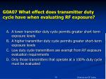 g0a07 what effect does transmitter duty cycle have when evaluating rf exposure