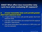 g0a07 what effect does transmitter duty cycle have when evaluating rf exposure16