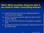 g0a11 what precaution should you take if you install an indoor transmitting antenna