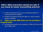g0a11 what precaution should you take if you install an indoor transmitting antenna24