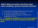 g0a13 what precaution should be taken when installing a ground mounted antenna28