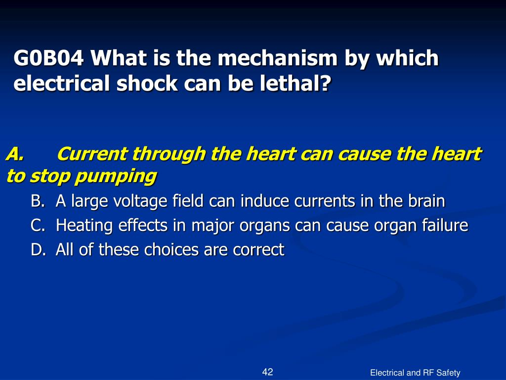 G0B04 What is the mechanism by which electrical shock can be lethal?