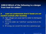 g0b10 which of the following is a danger from lead tin solder54