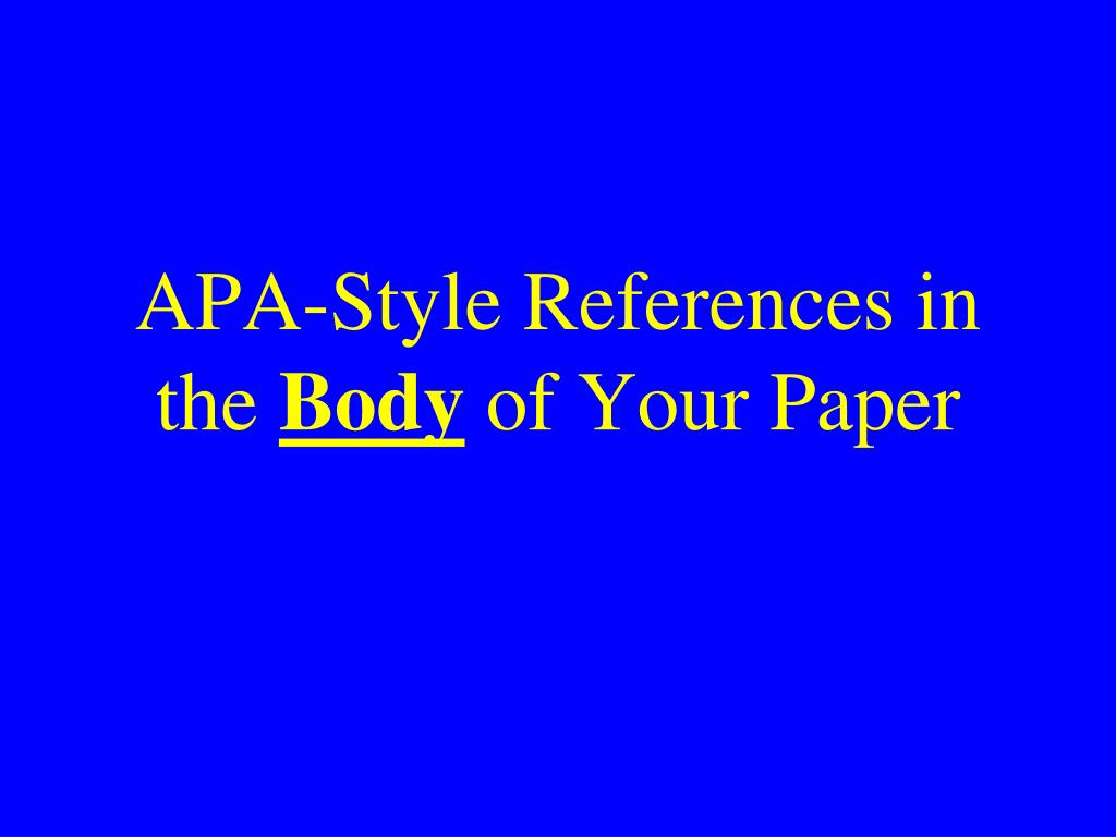 APA-Style References in the