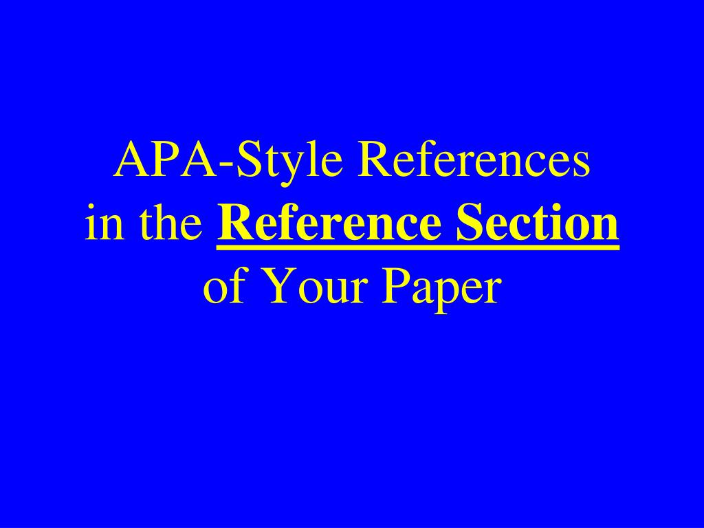 APA-Style References