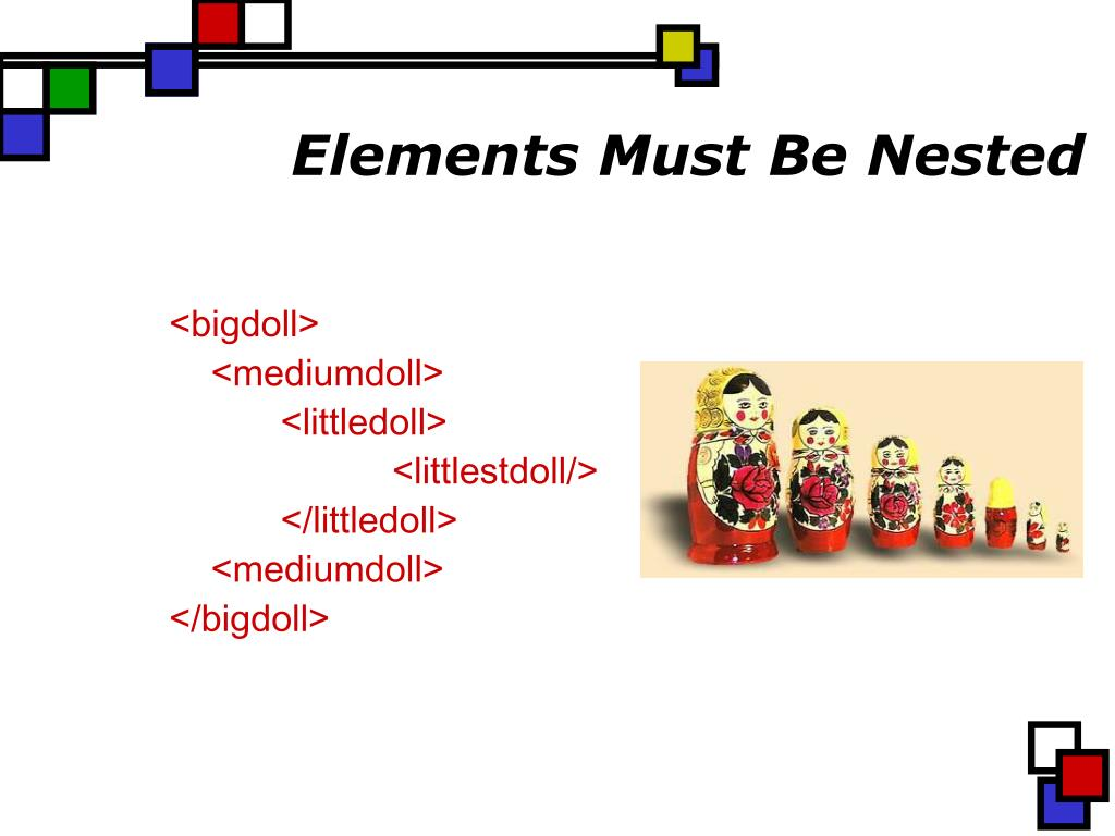 Elements Must Be Nested