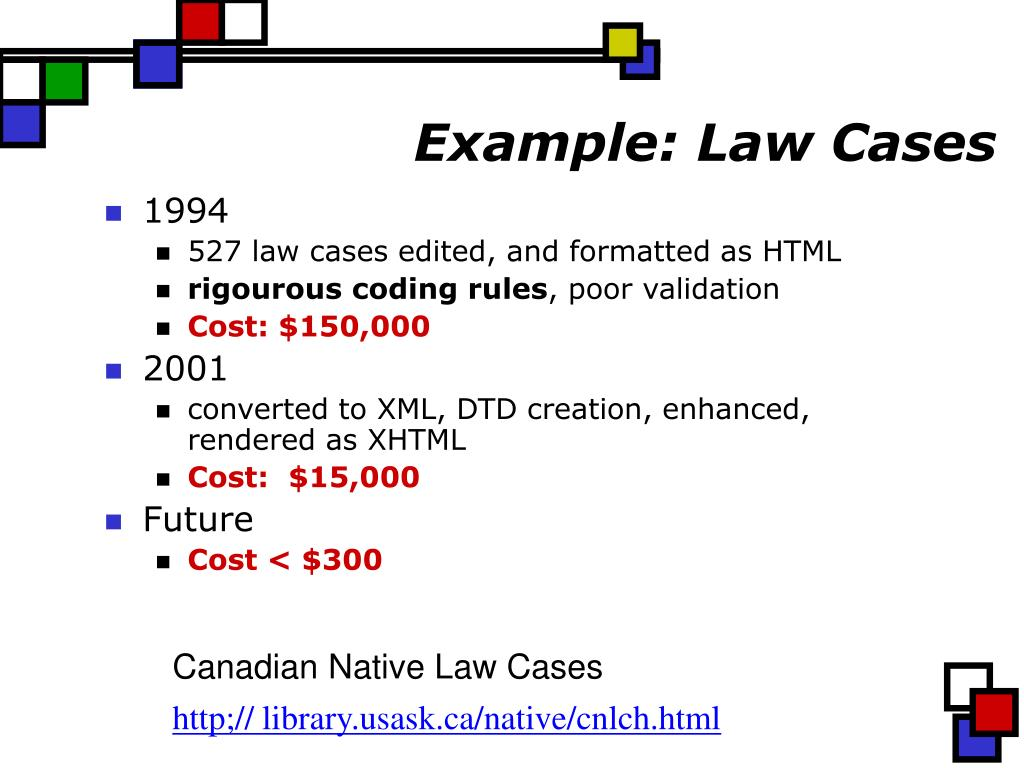 Example: Law Cases