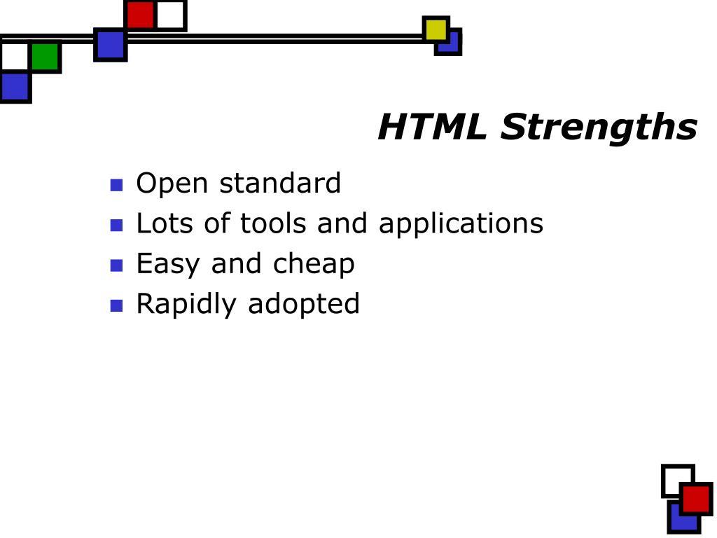 HTML Strengths