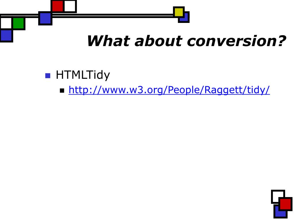 What about conversion?