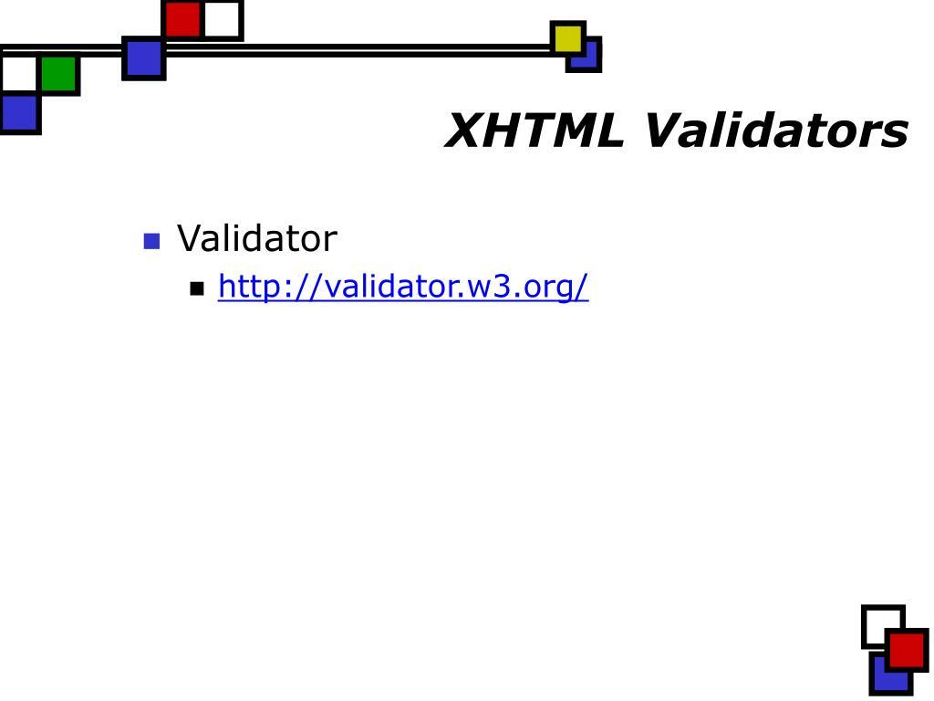 XHTML Validators