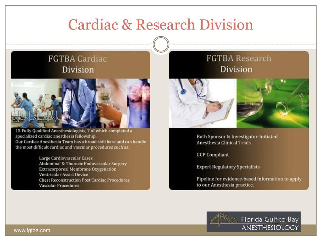 Cardiac & Research Division