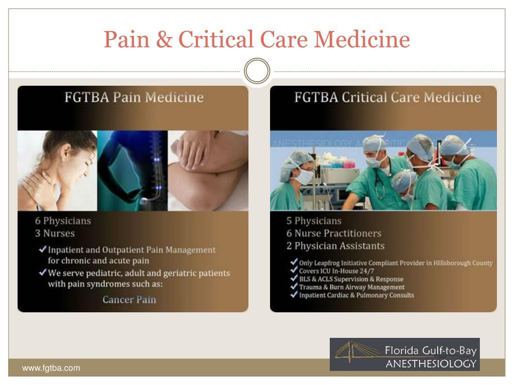 Pain & Critical Care Medicine