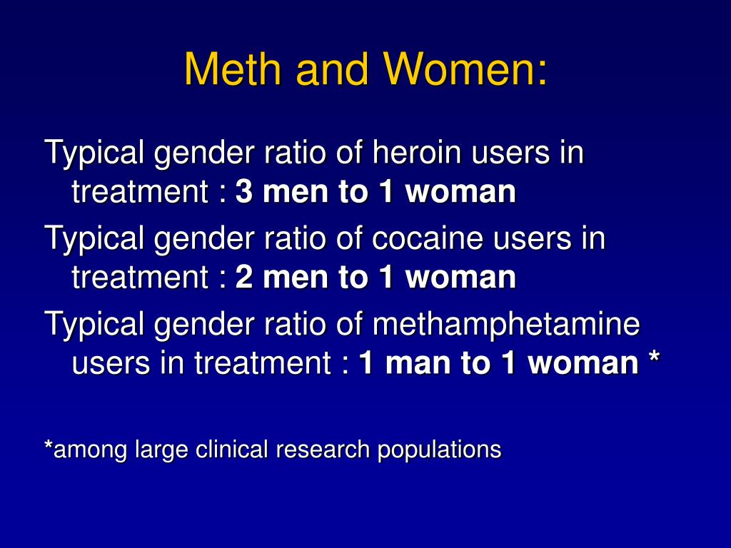 Meth and Women: