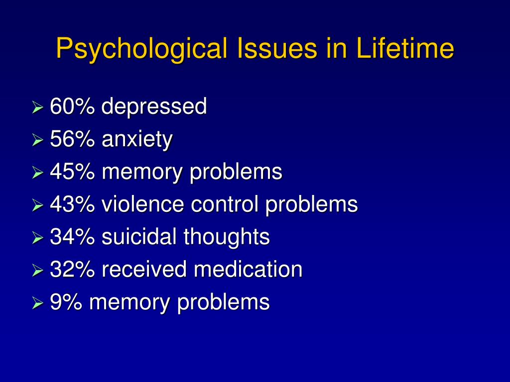 Psychological Issues in Lifetime