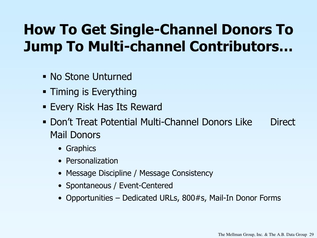 How To Get Single-Channel Donors To Jump To Multi-channel Contributors…
