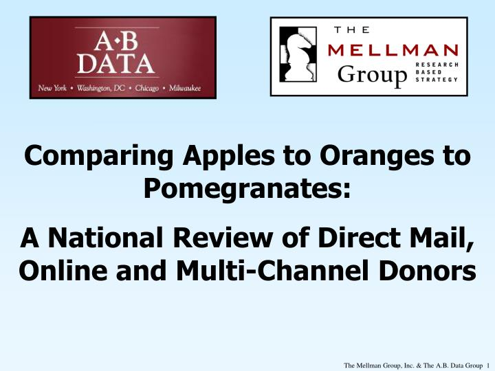 Comparing Apples to Oranges to Pomegranates: