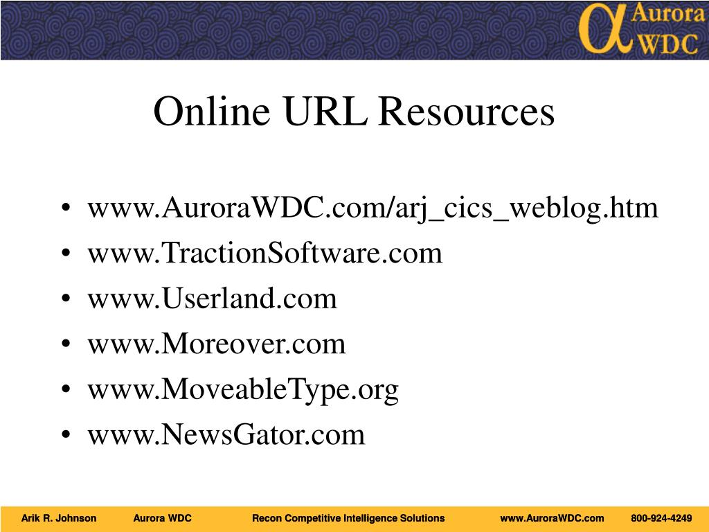 Online URL Resources
