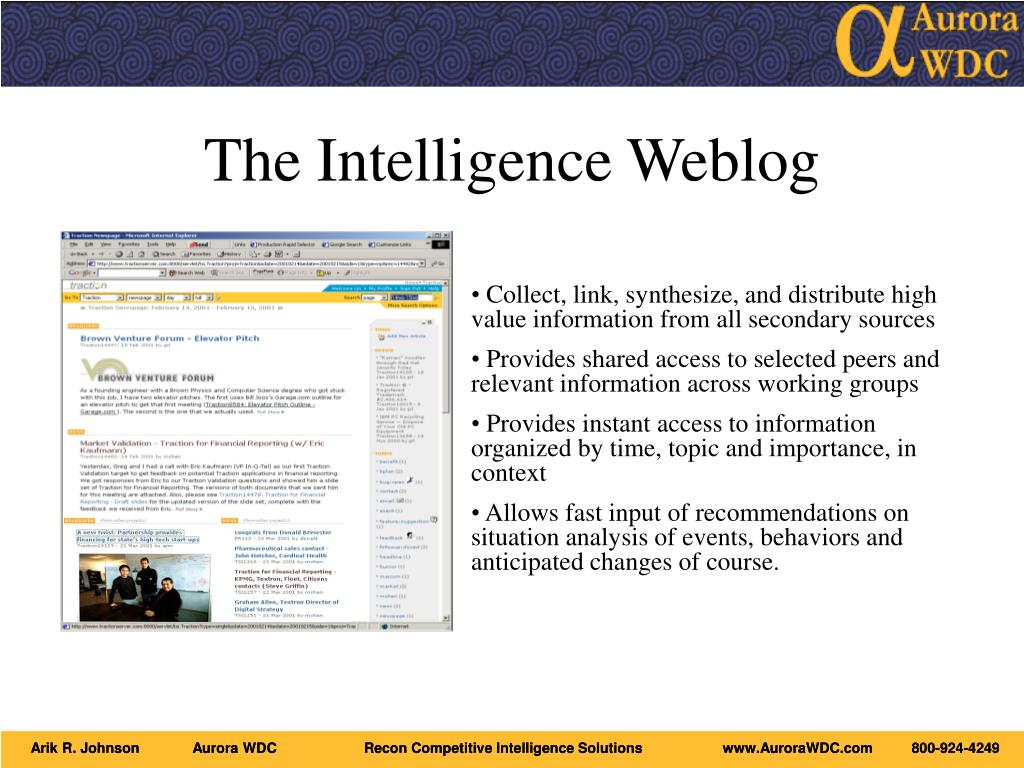 The Intelligence Weblog