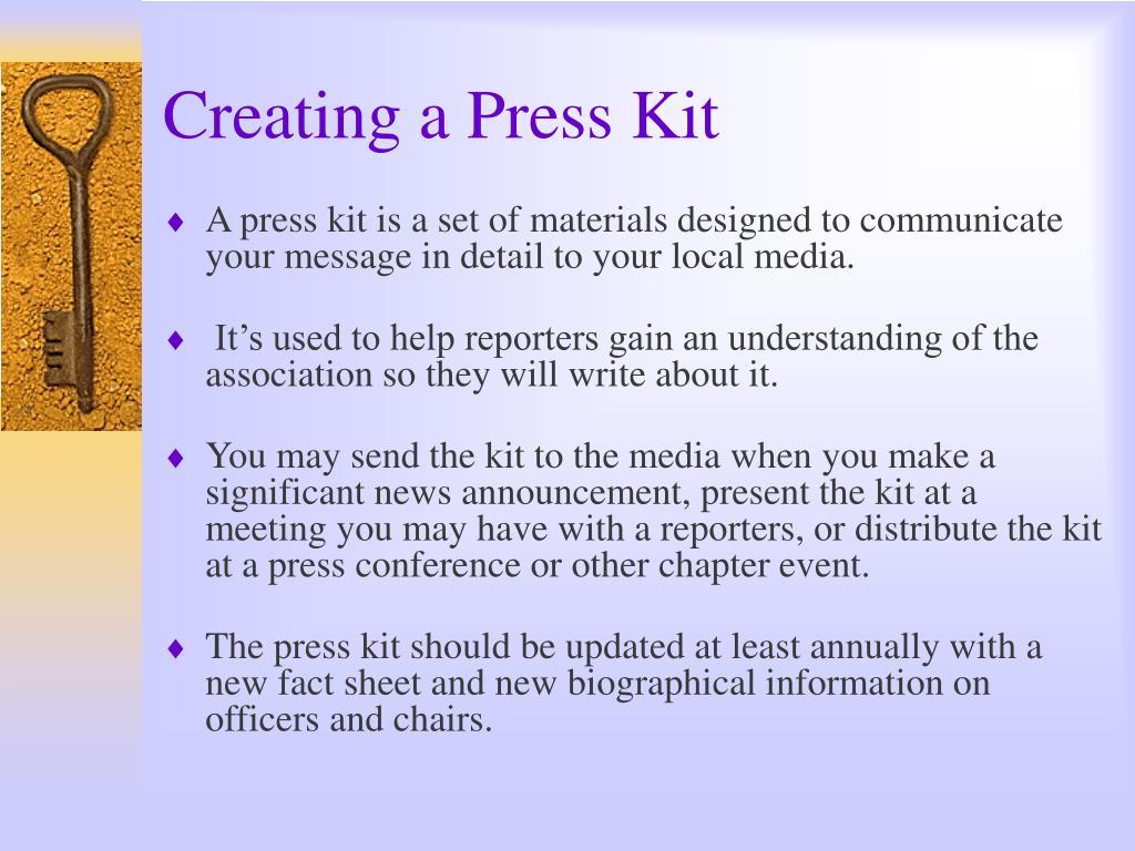 Creating a Press Kit