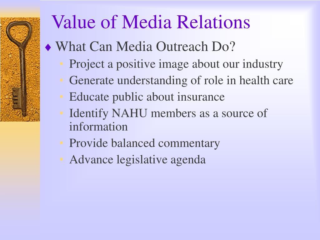 Value of Media Relations