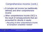 comprehensive income cont