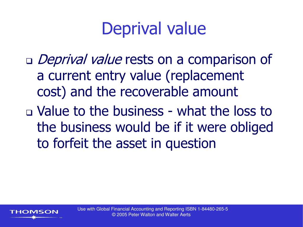 Deprival value