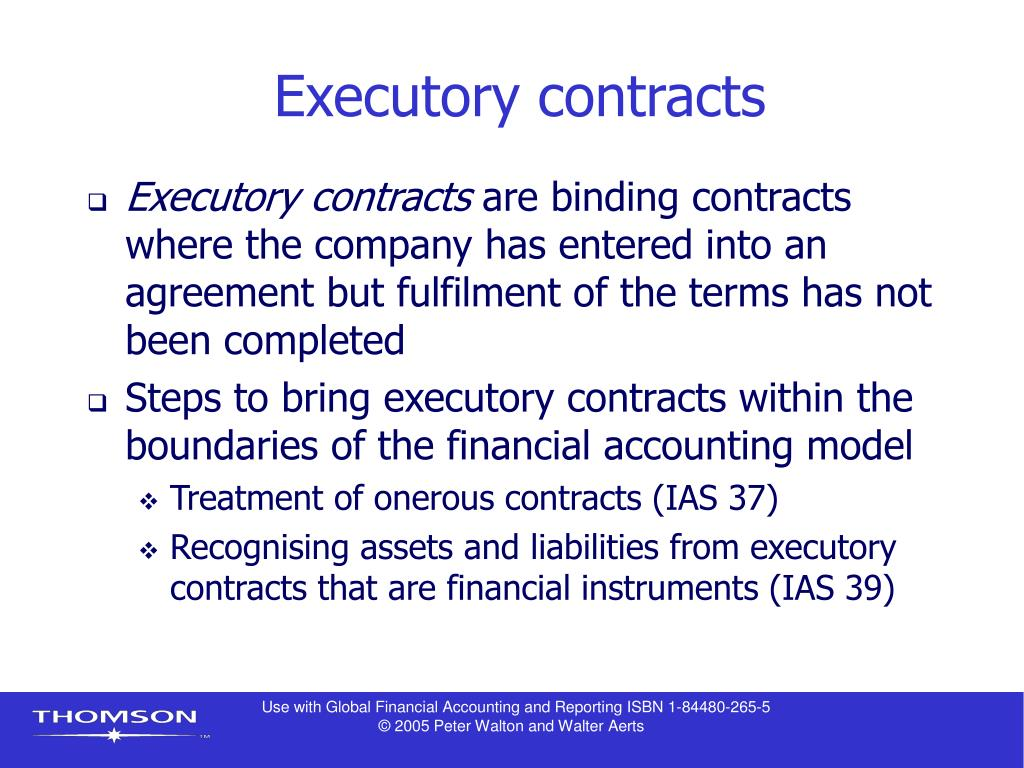 Executory contracts