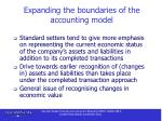 expanding the boundaries of the accounting model