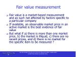 fair value measurement14