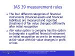 ias 39 measurement rules