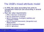 the iasb s mixed attribute model