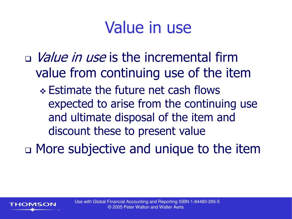 Value in use
