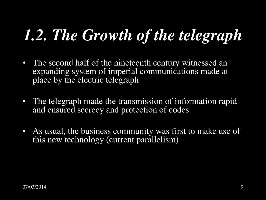 1.2. The Growth of the telegraph
